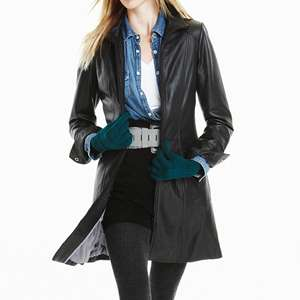 DANIER LEATHER Ladies Lamb Leather Coat XS   L New