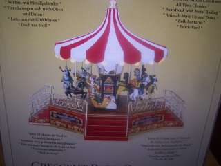 Mr Christmas Crescent Park Carousel Gold Label Musical Plays 30 Songs
