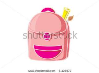 Girl School Bag Stock Vector 61128670 : Shutterstock