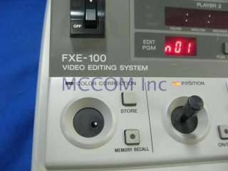 Sony FXE 100 A/B Roll Editor, switcher, audio mixer