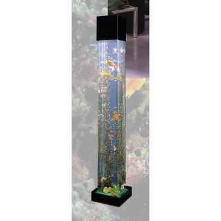 Midwest Tropical Fountain AquaTower 20 Gallon Square Aquarium Fish