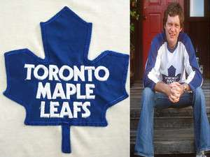 LETTERMAN 70s vintage TORONTO MAPLE LEAFS JERSEY shirt NHL SMALL