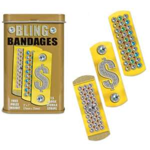 BLING BANDAGES Adhesive Band Aids Gag Gifts Party Favor