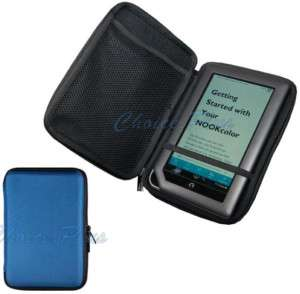 Nook Color Blue Hard Cover Case Pouch
