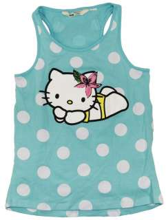 "Infant/Toddler Girls Hello Kitty ""Beach Daze"" Blue Tank Top/T"