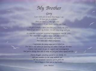 PERSONALIZED POEM MY BROTHER BIRTHDAY OR CHRISTMAS GIFT