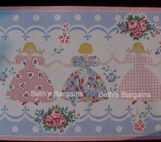Laura Ashley LITTLE GIRLS PAPER DOLLS Wallpaper Border