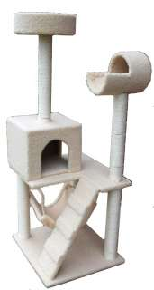 Deluxe 52 Cat Tower Tree w Condo Scratcher Furniture