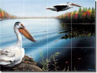Pelicans Birds Decor Art Ceramic Tile Mural Backsplash