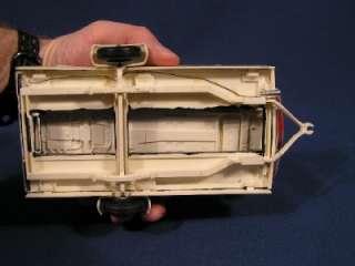Vintage Built Up AMT 1961 Red Corvair Model Kit on Trailer