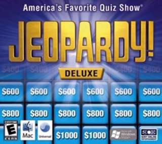 Jeopardy Deluxe delux quiz Game Works with Windows XP Vista & 7