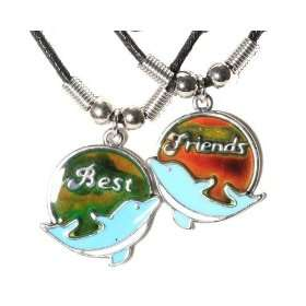 Dolphin Best Friends Mood Necklace Set Jewelry