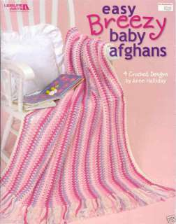 Easy, Breezy Baby Afghans ~ Crochet Book ~ 4 patterns