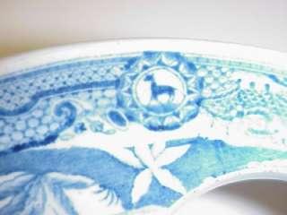 ANTIQUE PORCELAIN BLUE & WHITE EGG HOLDER TRAY