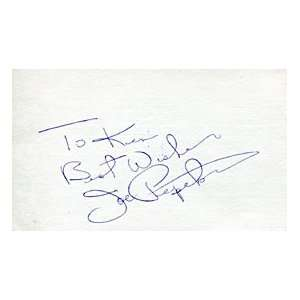 Joe Pepitone Autographed / Signed 3x5 Card