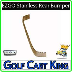 EZGO TXT Golf Cart Stainless Steel Rear Bumper Cover
