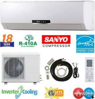18000 BTU ENERGY STAR Ductless Mini Split AC Heat Pump
