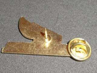 Honda Motorcycle Post Enamel Metal Hat Pin Gold Wings