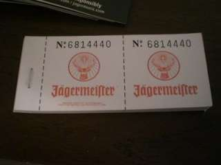 JAGERMEISTER ADVERTISING LOT TABLE ADS TICKETS AD PAD