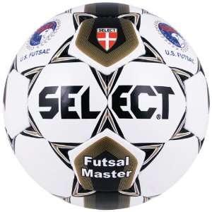 Select USFF Futsal Master Size 3 Soccer Balls WHITE/GOLD
