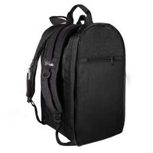 Gym Locker Organizer Backpack WITH Hanging Cosmetic Bag: Solid Black