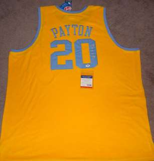 Gary Payton Signed Auto Los Angeles Lakers NBA Jersey PSA DNA