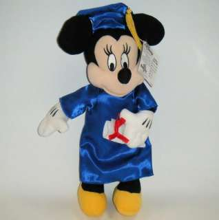 DISNEY MINNIE MOUSE GRADUATION Stuffed Plush NEW 15