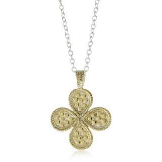 Anna Beck Designs Gili Wire Rimmed Reversible Clover 18k Gold Plated