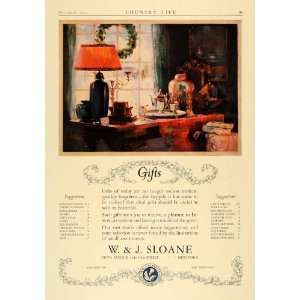 1923 Ad W. J. Sloane Housewares Gifts Decor New York   Original Print