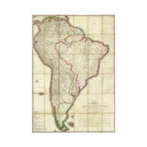 Mapa Geografico de America Meridional, c.1799 Giclee Poster Print by