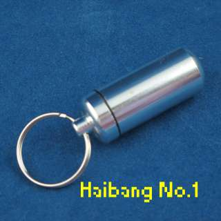 WaterProof Mini Aluminum Pill Box Case Bottle Holder Container Key