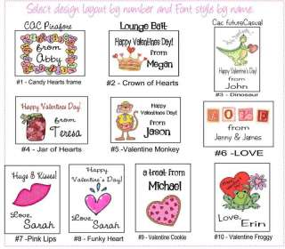 Personalized VALENTINES DAY Party Favor Labels Stickers
