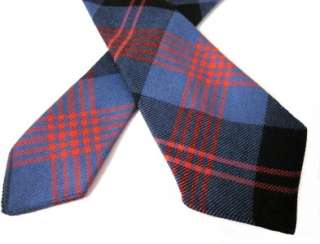 RRL Ralph Lauren Blue Red Tartan Plaid Unlined Wool Tie