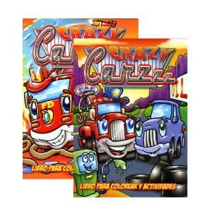 CRAZY CARZZZ Libro Para Colorear Y Actividades Case Pack
