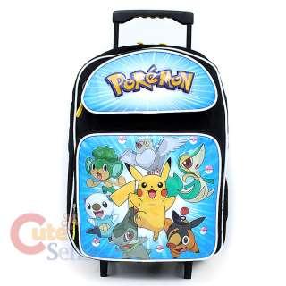 Pokemin Black and White School Roller Backpack Rolling Bag 1