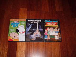 Family Guy Trilogy 3 DVD Set Lot Collection Blue Harvest Trap Freakin