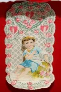 Oak Shadow Box 6 VTG Old 3D Pop Up Fold Out Valentine Day Card Germany
