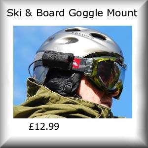SC HD720 Pro Helmet Camera kit Ski Snowboard with 3 batts, 8GB SD