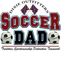 Rebel Flag Dixie Outfitters Soccer Dad T Shirt S,M,L,XL