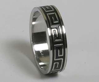 Mens Ladies 316L Stainless Steel Black Celtic Rings Wedding Bands