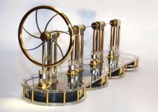 SOLAR TWIN CYLINDER Stirling engine READY BUILT 094922833549