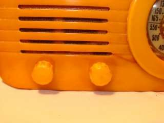 Fada 1000 Yellow Art Deco Bullet Radio Machine Age C.1945 No Reserve