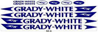 Grady White Boat Hull Decals Stickers Kit 53